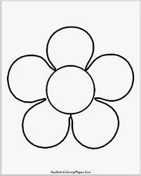 Simple Flower Coloring Pages Printable Printable Coloring Page For