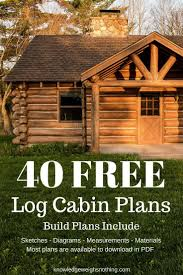 Log Home Plans: 40 Totally Free DIY Log Cabin Floor Plans