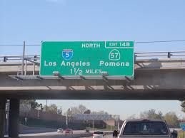 state highway junction route ca 22 westbound garden grove freeway approaching exit 14b north