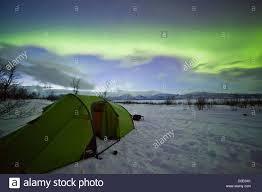 Northern Lights Camping And Caravan Park Travel Camping Norway Stock Photos Travel Camping Norway