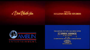 Rated amblin closing mpaa G sullivan Ent ultraviolet Don Film - Youtube 1988 Studios Bluth A
