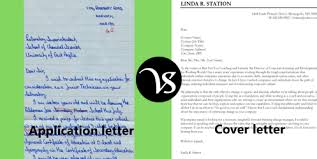 Difference Between Application Letter And Cover Letter Difference All