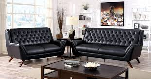 Tufted Living Room Set Tufted Sofa Set Beige Leather Upholster Sleeper Sofa With