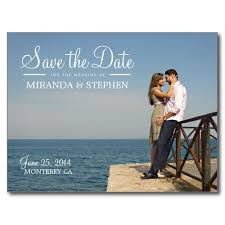 Save The Dates Wedding Sweet Modern Wedding Save The Date Photo Postcard