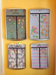 Crafty Mama Cute Chore Charts Made From Cookie Sheets