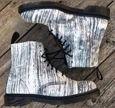 martens mens pascal black and white painter leather boots new black and white fashion boot db2hb