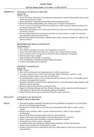 Pharmacist Assistant Resumes Pharmacy Technician Resume Samples Velvet Jobs