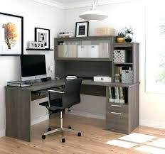 office desk with shelves l shaped desk with shelves l shaped office desk and hutch with frosted glass doors in bark gray l shaped desk with bookshelves l