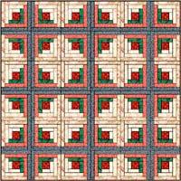 free log cabin crib doll quilt pattern instructions