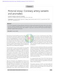 pictorial essay coronary artery variants and ano es pdf  pictorial essay coronary artery variants and ano es pdf available