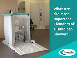 what are the most important elements of a handicap shower