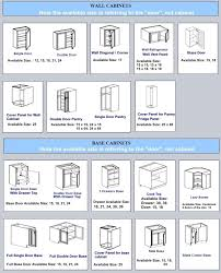 74 great elegant kitchen cabinet sizes chart show home design for standard wall depth upper cabinets base height unique fish pulls movable behind the door