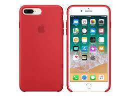 Apple Silikon Case Backcover Schutzhülle Schale Handyhülle Iphone 78 Plus Rot