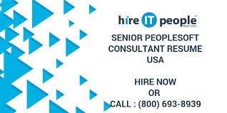 People Soft Consultant Resume SENIOR PEOPLESOFT CONSULTANT Resume Hire IT People We get IT done 25