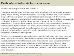 18 fields related to karate instructor martial arts instructor jobs