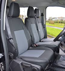 ford transit custom crew cab waterproof tailored van foam backed seat covers