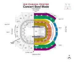 Air Canada Centre Seating Chart Hockey 18 Thorough Acc Floor Plan For Concerts