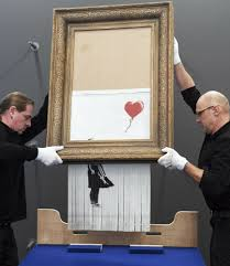 Banksy painting that self-destructed displayed in Germany