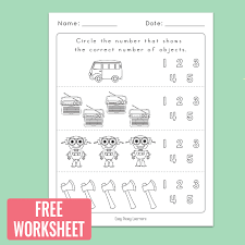 Counting to 5 Worksheets for Kindergarten - Easy Peasy Learners