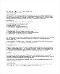 Coach Resume Template Best of 24 Coach Resume Templates PDF DOC Free Premium Templates