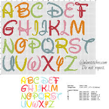 Cross Stitch Alphabet Patterns Enchanting Disney Colored Font Letters Cross Stitch Free Alphabet Free Cross