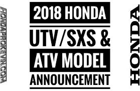 2018 honda utv. plain honda sneak peek  new 2018 honda side by utv u0026 atv announcements  model  release dates hondapro kevin in honda utv a