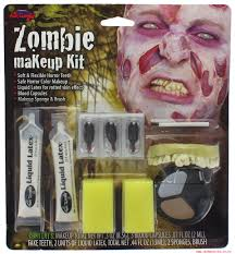 zombie makeup kit with liquid latex blood capsules teeth makeup 497