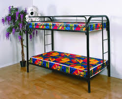 twin bunk bed mattress colorful