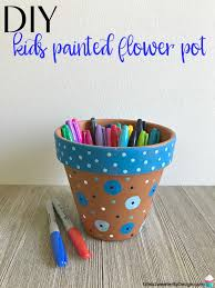 diy kids painted flower pot project is a simple kids craft that makes a pretty painted