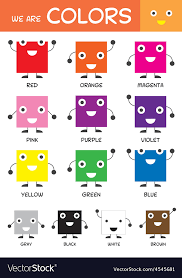 Kids Basic Colors Chart