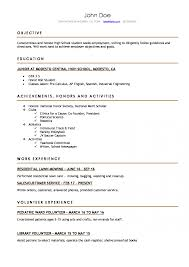 High School Resume How To Write The Best One Templates Included Word
