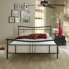 Premier Annika Metal Platform Bed Frame Queen Black With Bonus Base Wooden Slat System  B