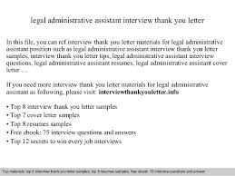 Thank You Letter After Interview For Administrative Position