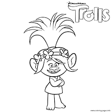 Small Picture Trolls Poppy Troll Coloring Pages Printable