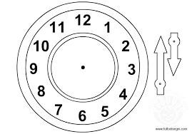 Orologio Da Stampare E Colorare Con Disegni Di Orologi Da Stampare E