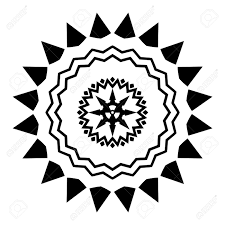 Radiation Design Illustrated Black And White Design With A Radiation Symbol In