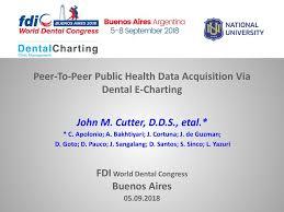 Peer To Peer Public Health Data Acquisition Via Dental E