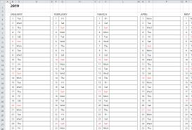 018 Img Excelcalendar 02 En Download Excel Weekly Calendar