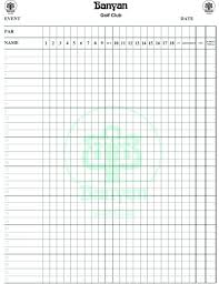 Golf Score Card Template Golf Scorecards Printable Barca Fontanacountryinn Com