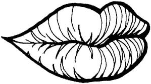 Small Picture Lips Coloring Pages Clip Art Library