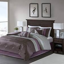 Queen bedroom comforter sets Crown Madison Park Amherst Queen Size Bed Comforter Set Bed In Bag Purple Grey Amazoncom Amazoncom Madison Park Amherst Queen Size Bed Comforter Set Bed In