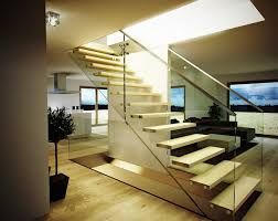 China Contemporary Solid Wood Used Floating Staircase Design With Modern  Stairs Design Indoor