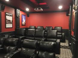 Finished Basement with Bar and Home Theater The Basic Basement Co