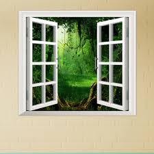Artificial Window Deep Forest Pag 3d Artificial Window View 3d Wall Decals Room
