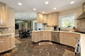 custom kitchen lighting. Beautiful Kitchen With Light Wood Cabinets Custom Lighting L