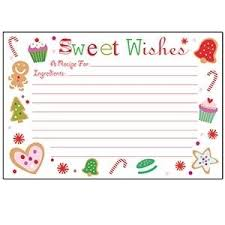 Christmas Recipe Card Amazon Com C R Gibson 40 Count Christmas Recipe Cards 4 By 6 Inch