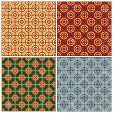 Bullseye Pattern New Seamless Geometric Bullseye Pattern In Four Colorways Royalty Free