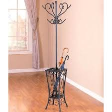Sturdy Coat Rack Custom Metal Coat Rack With Umbrella Holder In Satin Black Finish