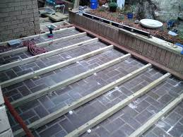 delighful deck how to build a deck over concrete patio building slab designs throughout deck over patio a