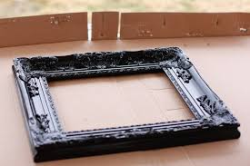 image of diy picture frame stand